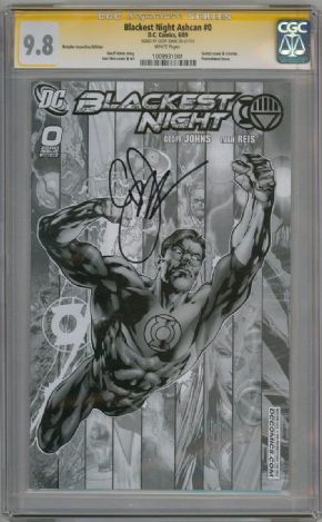 Blackest Night #0 RRP Sketch Variant CGC 9.8 signature Series Signed Johns DC Comic book